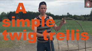 how to make a simple small twig trellis youtube