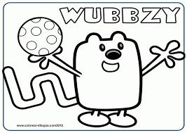 wow wow wubbzy dibujos para colorear de wow wow wubbzy wow wow