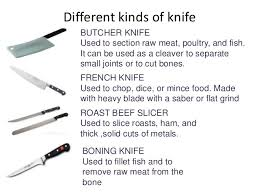 different kinds of kitchen knives kitchen tools