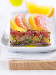 cuisiner thon frais recette tartare de thon frais aux agrumes cuisine madame figaro