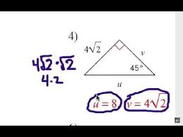 special right triangles 45 45 90 shortcuts youtube