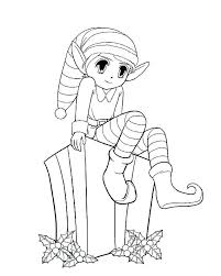printable elf girl female elf coloring pages kartech