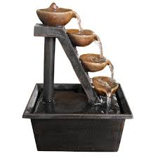 alpine 8 in 4 tier step tabletop fountain wct324 the home depot 4 tier step tabletop fountain