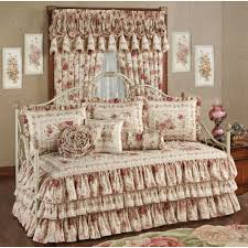 Design For Daybed Comforter Ideas Heirloom Floral Ruffled Daybed Bedding Set