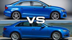 compare audi a3 and a4 2017 audi a3 sedan vs audi a4