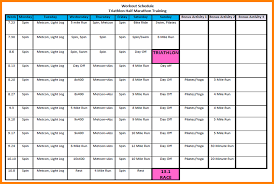 100 exercise schedule template taste of august fitness