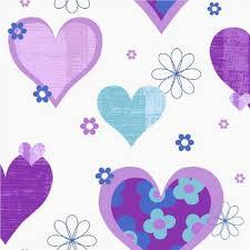 arthouse happy hearts flowers childrens kids bedroom wallpaper 533702