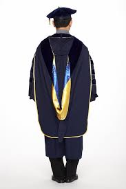 cap and gown for graduation of california phd regalia rental set