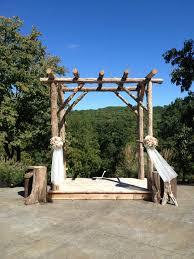 rustic wedding arbor haue valley weddings pinterest rustic
