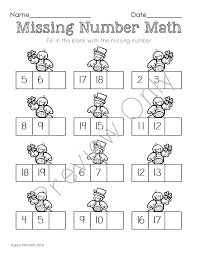 st patrick u0027s day march math sequencing missing number tens