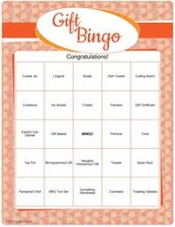 printable bridal shower gift bingo bridal shower