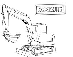 coloring pages excavator coloring