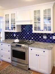 Interesting Kitchen Tiles Blue Tile For Kitchens With Inspiration - Blue tile backsplash kitchen