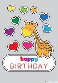 giraffe birthday card u2013 gangcraft net