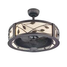 furniture awesome ceiling fan with caged blades lowes design