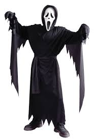 ghost halloween costumes for boys child ghost face costume includes mask hooded robe and belt