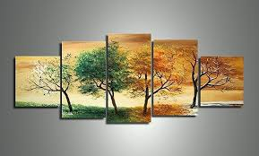 amazon com ode rin art 100 hand painted four seasons trees 5