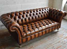 Chesterfield Sofa Vintage Antique Belmont Rub Leather 3 Seater Chesterfield Sofa