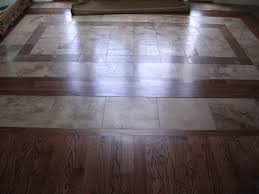 Hardwood Floor Border Design Ideas Tile And Wood Floor Combination Home Design