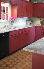 red chalk paint kitchen cabinets modern cabinets