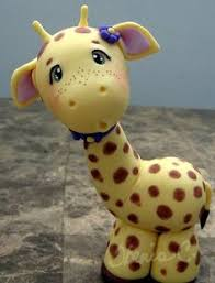 giraffe bet this would be really cute done as a cake topper on a