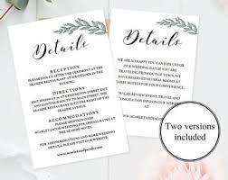 enclosure cards wedding enclosure etsy