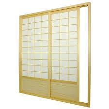 shoji door thickness u0026 wood