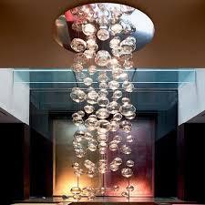 aliexpress com buy z modern led glass ball chandelier bubble