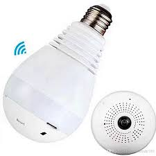 light bulb security system e27 bulb light wireless ip camera wi fi fisheye 960p 360 degree mini