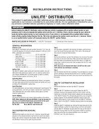 mallory ignition mallory unilite distributor user manual 13