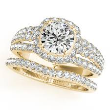 yellow gold bridal sets butterfly engagement rings from mdc diamonds nyc