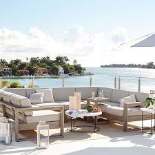 Build Your Own Wood Patio Furniture by Build Your Own Portside Sectional Weathered Gray Solid Wood