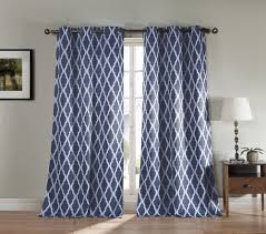 Silver Window Curtains Pair Of Two Blackout Window Panel Curtains Slate Blue White