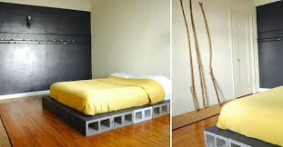 Concrete Block Bed Frame Diy Projects With Cinder Blocks Ideas Inspirations
