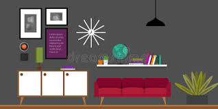 home interior vector living room home interior vector illustration stock vector