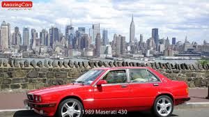 1985 maserati biturbo custom 1989 maserati 430 youtube