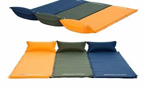 self inflatable sleeping mat mattress with pillow self inflating