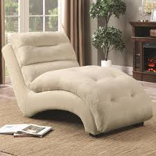 coaster 550347 accent chaise with arched base in tan padded upholstery