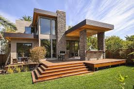 contemporary home plans surprising contemporary house plan with green grass area and iron