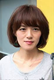 pictures of short messy bob hairstyle with bangs