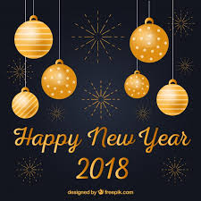 Happy New Year Decorations by Happy New Year Background With Golden Decorations Vector Free