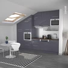 hotte cuisine ouverte cuisine ouverte sur salon au décor bleu gris avec finition