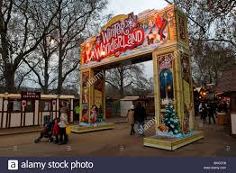 the entrance to the winter market at hyde park