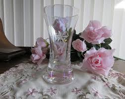 Vintage Waterford Crystal Signed 8 Inch Flower Vase In Vintage Crystal Vase Etsy