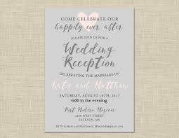 printable wedding reception invitation celebration after