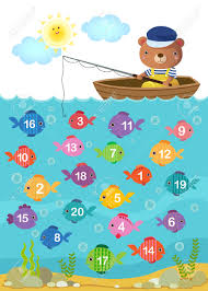 worksheet for kindergarten kids to learn counting number with
