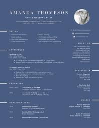 Artist Resume Template Hair And Makeup Artist Resume Templates By Canva