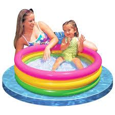 Intex Inflatable Swimming Pool Intex Baby Pool 3 Ring Sunset Glow U2013 Havens Finest Kids