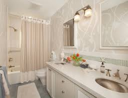 ideas for bathroom curtains vanity your bathroom look larger with shower curtain ideas
