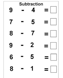 subtraction worksheet math pinterest worksheets for kindergarten